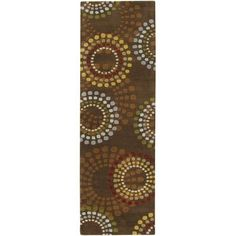 Zipcode Design Dean Chocolate/Gold Area Rug Rug Size: Square 4'