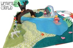 playmat with beach playmobiles!