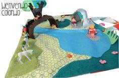 playmat with beach playmobiles!