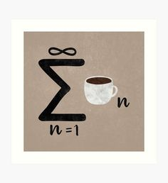 Infinite Coffee Art Print