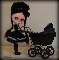 OOAK Custom Blythe Doll ~ by Melacacia ~ Olive  Would be very happy to own a Wednesday Adams Blythe.  ^_^