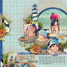 Cindy's Template set #135: All Tucked In 2. Coastal Getaway by Traci Reed and Meghan Mullens Wheel and Anchor- Sail Away by Kristin Aagard Orange Flower - Beachy Keen by Erica Zane Craft Alpha by Shawna Clingerman