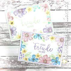 Stempellicht: Blumen voller Freude My Stamp, Stampin Up Cards, Perennials, Blog, Poster, Paper Crafts, Spring, Mini, Pretty