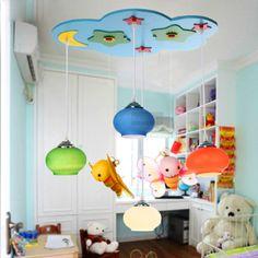 Creative 4 Lights Kid's Room Ceiling Lamp Cartoon Bees Child Real Lighting Baby Bedroom Lights