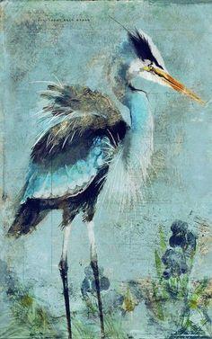 Introducing artist Anthony Morrow's gorgeous art interpretation of a Great Blue Heron.