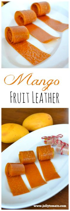 Easy homemade mango fruit leather recipe - no sugar added!