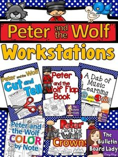 Introducing Peter and the Wolf Workstations. Five activities to use as part of your center rotations or just for fun! They work great as whole group activities too.
