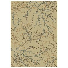Oriental Weavers of America Berries Rectangular Cream Floral Woven Area Rug (Common: 5-ft x 8-ft; Actual: 5.25-ft x 7.5-ft)