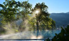 #lenkerhof #FeelTheLove #lenk #lenkimsimmental #meineberge #sichergömeridbärge #nature #relax #relaischateaux #pool Beauty Spa, Waterfall, Relax, Outdoor, Outdoors, Outdoor Living, Garden, Waterfalls