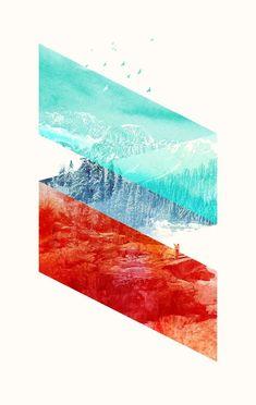 Mountain Stripes Art Print by Robert Farkas - X-Small Web Design, Layout Design, Print Design, Art Print, Graphic Design Illustration, Graphic Design Art, Design Creation, Arte Popular, Grafik Design