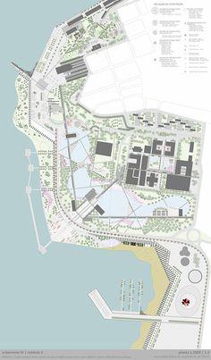 Orla Guaíba on Behance - marita home Architecture Site Plan, Water Architecture, Architecture Concept Diagram, Architecture Panel, Urban Architecture, Landscape Plane, Landscape And Urbanism, Landscape Design, Urban Design Diagram