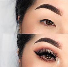Myfavoritehello com asiatische Augen Make-up machen yo . - Make-up - Eye-Makeup Asian Makeup Prom, Asian Makeup Looks, Monolid Eyes, Korean Eye Makeup, Formal Makeup, Makeup On Asian Eyes, Makeup Eyes, Big Eye Makeup, Eye Makeup Tutorials