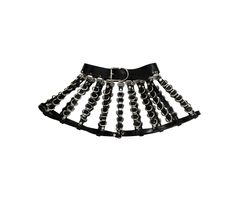 Leather+buckle+skirt+with+strap+and+D+ring+detail  Faux+or+real+leather+available  Gold+or+silver+hardware+is+available   Color+options:  Red,+pink,+lavender,+white,+black  Default+is+black+with+silver  please+provide+the+following+measurements:  waist hip length+from+waist+to+bo...