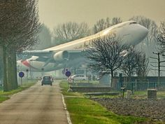 Emirates SkyCargo Boeing 747 freighter taking off from Amsterdam Airport Schiphol