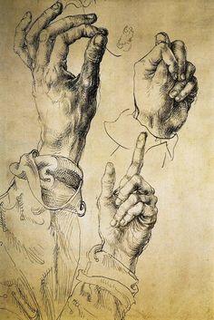 """A study of Three Hands"",  Alberto Durero"
