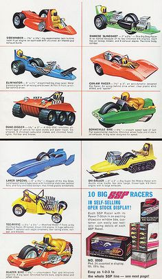 SSP's were some of the most awesome toys I remember from my childhood. Vintage Toys 1960s, 1970s Toys, Vintage Ads, My Childhood Memories, Childhood Toys, Moose Toys, Kenner Toys, Model Cars Kits, Metal Toys