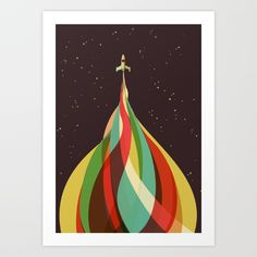 Buy Kaleidoscope to the Stars Art Print by Jay Fleck. Worldwide shipping available at Society6.com. Just one of millions of high quality products available.
