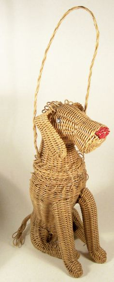 wicker dog purse