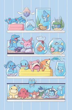 Rayquaza Pokemon, O Pokemon, Pokemon Comics, Pokemon Funny, Pokemon Fan Art, Cute Animal Drawings Kawaii, Cute Drawings, Pokemon Mignon, Water Type Pokemon