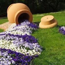 Image result for urns with flowing blue flowers