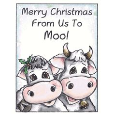 """My 0068H, Inky Antics - From Us To Moo wood mounted rubber stamp.  To go directly to the stamp, please type 0068H in the """"search"""" box then click """"GO"""".  :)"""