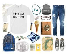 Louella's Beach Hair Shirt by stephaniecaldwell on Polyvore featuring Guild Prime, Converse, Bling Jewelry, Herschel Supply Co., L. Erickson, Burt's Bees, Thos. Baker and Pier 1 Imports