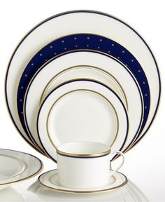 kate spade new york Library Lane Navy Collection - Fine China - Dining & Entertaining - Macy's