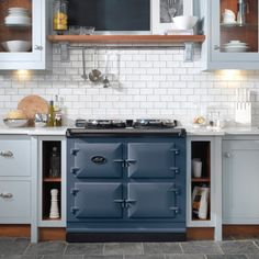 3-oven AGA Total Control in Dartmouth Blue