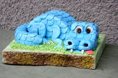 Blue Dinosaur Cake by  Sugar Jewels Cakes & Confections
