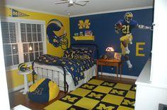 Go Blue themed bedroom- pinning for Domenic lol