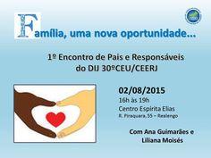 Centro Espírita Elias Convida para o seu 1o.Encontro de Pais e Responsáveis - Realengo - RJ - http://www.agendaespiritabrasil.com.br/2015/07/29/centro-espirita-elias-convida-para-o-seu-1o-encontro-de-pais-e-responsaveis-realengo-rj/