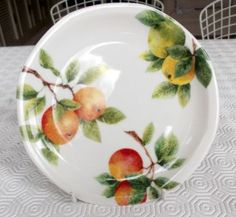 ROYAL DOULTON CITRUS GROVE everyday china. My mother gave service for 8 as a gift 25 years ago, and we've only broken 1 plate!  Great strength and cheerful to look at