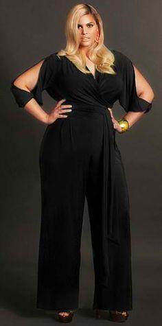 blue jumpsuit for curvy women plus size fashion pinterest sch ne klamotten kurvige frauen. Black Bedroom Furniture Sets. Home Design Ideas