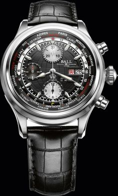 Trainmaster Worldtime Chronograph by Ball watch #shannonfinejewelry #ballwatchretailer