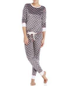 Pj Salvage Two-Piece Polar Polka Dot Pajama Set