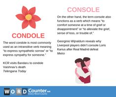 Condole vs Console Learn English Words, English Lessons, Sweet Love Quotes, Love Is Sweet, English Vinglish, Liverpool Players, Academic Vocabulary, Writer's Block, English Language Learning