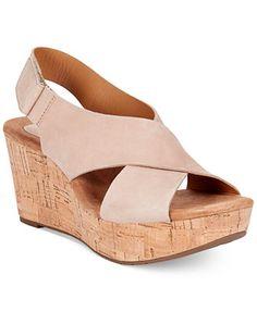 Clarks Artisan Women's Caslynn Shae Platform Wedge Sandals Macy $120