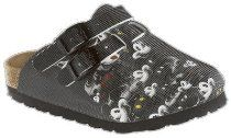 Birkis clogs Kay from Birko-Flor in Many Mickey Black with a narrow insole