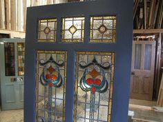 Art Glass Doors | Art Nouveau Stained Glass Door Front Door