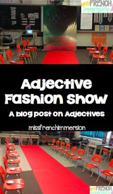 Get your students learning adjectives by having a fashion show!