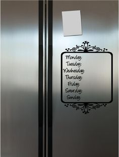 Perfect Menu Board for my non-magnetic fridge!  ~ Simply put this straight onto your fridge, then use a dry erase marker to change the meals! So simple!