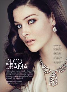 WEDDING BELLS MAGAZINE:  Makeup and hair:  Michelle Rosen, Judy Inc