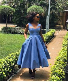 Trendy lace Ankara dress styles glam attending has been trending for a while now and we are seeing n Seshoeshoe Dresses, Fashion Dresses, African Fashion Traditional, Shweshwe Dresses, Ankara Dress Styles, African Attire, Chic, Style Inspiration, Outfits