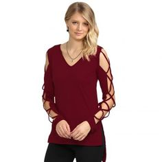 SHARE & Get it FREE | Sexy V Neck Hollow Out Solid Color Women T-ShirtFor Fashion Lovers only:80,000+ Items·FREE SHIPPING Join Dresslily: Get YOUR $50 NOW!