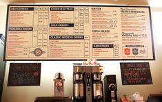 menu Branding Ascendancy: Fuel Coffee Shop in Brighton, MA. Coffee Menu, Coffee Cafe, Coffee Shop, Menu Design, Branding Design, Branding Ideas, Cafe Design, Restaurant Branding, Restaurant Bar