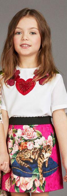 DOLCE & GABBANA Girls Pink Brocade Dress