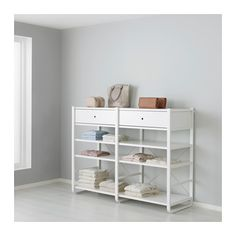 IKEA ELVARLI Side unit White 51x126 cm Use ELVARLI side unit as your base and add interiors as you wish to create your own personalised storage solution.