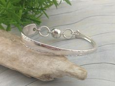 Sterling Silver SPOON BRACELETs For Women. Upcycled from Vintage Spoon. Magnetic Clasp. Silverware Jewelry. Custom size. Fork Jewelry, Silverware Jewelry, Spoon Bracelet, Bracelets, Silver Cleaning Cloth, Thumb Rings, Silver Spoons, Upcycled Vintage, Antique Items