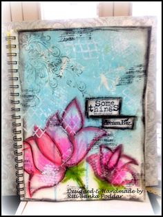 My 1st Art Journal Page, using Gelatos,TCW stencils, Gesso, Kaisercraft & Unity Stamps.