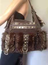Far Nine Hobo Bohemian Bag Purse Fur Antique Studs Designer Fashion Hip Chic